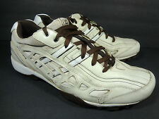 Skechers Mens Leather Sneakers Shoes Size 12