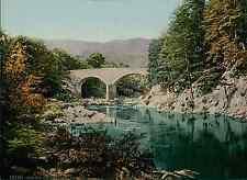 Pitlochrie. Clunie Bridge. PZ vintage photochromie, photochrom photochromie, v