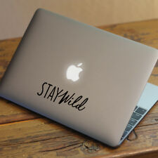 "STAY WILD Apple MacBook Decal Sticker fits 11"" 12"" 13"" 15"" and 17"" models"
