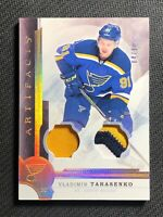 2016-17 UD ARTIFACTS VLADIMIR TARASENKO MATERIALS DUAL PATCH GOLD #ed 4/10