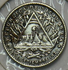 Nicaragua 1887 5 Centavos 296853 combine
