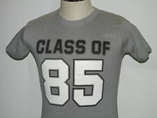 VTG 80`s CLASS OF 85 T Shirt 1985 School Reunion 50/50 Sexy Fits XSM/SM