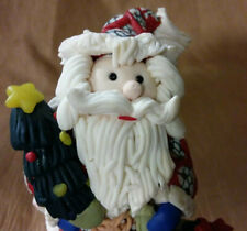 Whimiscal Play Dough Santa Claus W/ Bag of Toys Wind Up Musical Figurine