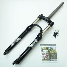 """NEW SR Suntour XCR Bike Fork 120mm 26"""" 1 1/8"""" Remote Lockout 32mm Black"""