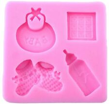 Baby Things Pink Silicone Mold for Fondant, Gum Paste & Chocolate