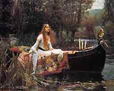 Lady of Shalott - J W Waterhouse 8x10 Print - Woman Boat Lake Tennyson Art 201