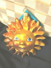 Radko Sunny Disposition Sun Face Ornament New