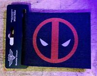 Deadpool Wallet Marvel Comics X-Man Red Icon Bifold Black PU  Buckle Down