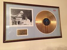 """Genuine Cliff Richard """"Summer Holiday"""" Gold Disc Signed"""