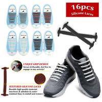 11 Colors No Tie Shoelaces Rubber Silicone Slip Easy Sneaker Shoe Laces