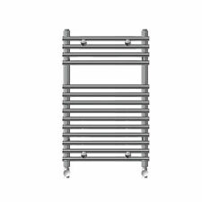 KUDOX FLAT BAR-ON-BAR TOWEL RAIL CHROME 700 X 500MM TOWEL WARMER