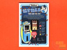 "Fix it Felix Jr. flyer 2x3"" fridge/locker magnet Wreck it Ralph arcade game"