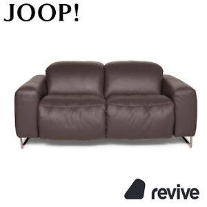 Joop! Cubic Leder Sofa Braun Zweisitzer Funktion