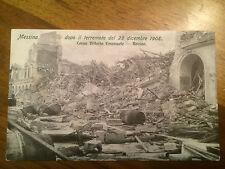 Cartolina Sicilia Messina dopo Il terremoto del 1908 Corso V. Em.   9/12/15