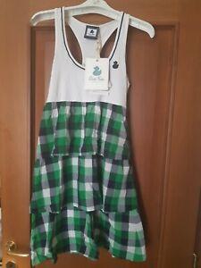 Vestito Abito Fix Design Duck Farm Taglia S 40 Bianco E Verde