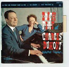 "Edith PIAF & Charles DUMONT Vinyle 45T EP 7"" CHANTENT L'AMOUR COLUMBIA 1319 RARE"