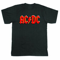 NEW ACDC Acca Dacca Official Licensed Logo Black T-shirt S M L XL XXL SIZES.