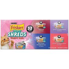 96 pcs Purina Friskies Savory Shreds Cat Food Variety Pack 96 pcs-5.5 oz. Cans
