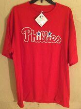 Nwt Philadelphia Phillies Cliff Lee T Shirts Red/White Size XL