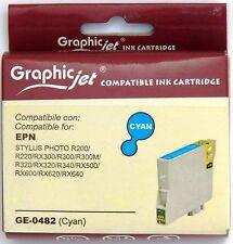 Cartuccia Compatibile Epson STYLUS PHOTO RX 500 T482 colore CIANO inchiostro