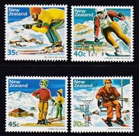 New Zealand 1984 : Skiing - Set of 4 Decimal Stamps, MNH