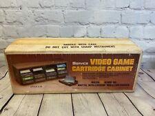 NOS Vintage ATARI Mattel Intellivision Video 16 Cartridge Cabinet ~ New RARE