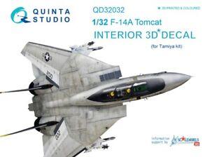 Quinta Studio 1/32 F-14A Tomcat Interior 3D Decal (for Tamiya kit) #32032