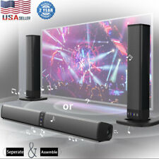 Wireless Sound Bar Tv Pc Soundbar Bluetooth Speaker Theater Stereo Subwoofer Us