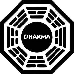 """2"""" Dharma Initiative Lost High Quality Decal Sticker Cell Phone Car Tv show"""