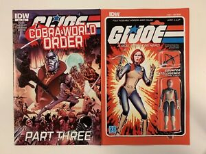 IDW G.I. JOE : A REAL AMERICAN HERO #221 : 2 COVERS BUNDLE : REG + SUB : NM