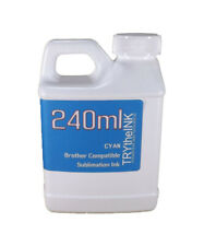 Dye Sublimation Ink Cyan 240ml bottle for Brother Inkjet Printers