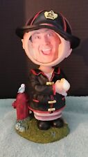 "Melannco Bobblehead Firefighter Fireman Photo Frame 10"" figurine Hard to Find"
