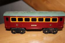 DDR Spielzeug Blecheisenbahn Personenwagen 2 Spur 0 WSM Stadtilm?