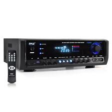 Pyle 300W Digital Home Theater Bluetooth Stereo Receiver (2)Mic Input MP3/USB/SD