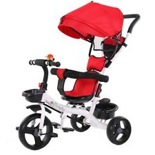 5-in-1 Baby Kids Ride on Trike Tricycle Toddler 3 Wheels Bike with Canopy & Push