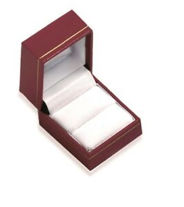 Écrin pour Bague - Imitation cuir rouge - Boite Cadeau Bijoux