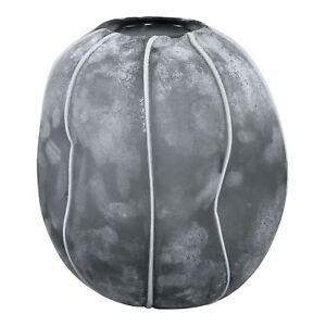 Deko Vase Blumenvase Lindy Glas Bombey Grey round Frozen 17.0 x 17.0 x 16.5 cm