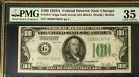 1928A $100 PMG35 CHOICE VERY FINE FEDERAL RESERVE NOTE CHICAGO WOODS/MELLON