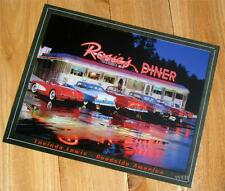 Old Fashioned Restaurant 1950's Classic Cars Print Picture Plaque Poster Sign