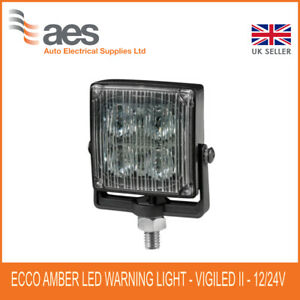 ECCO VIGILED ED0001A WARNING LIGHT AMBER 12/24V DC 15W