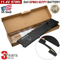 97Wh 6-Cell Extended Battery for Dell XPS 15 9560 9570 Laptop GPM03 6GTPY New
