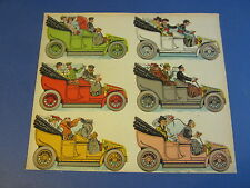 Old c.1910 Antique - French Game PRINT - Automobiles