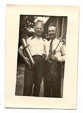 hommes musiciens violon tuba - photo ancienne amateur 1950 60