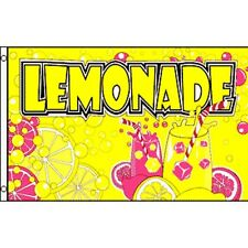 Lemonade Yellow Pink Flag Banner Sign 3' x 5' Foot Polyester Grommets
