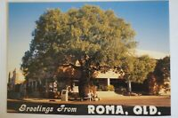 Greetings from Roma Queensland Australia Vintage Collectable Postcard.