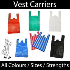 More details for vest carriers - all colours & sizes * all strengths * supermarket carrier bags