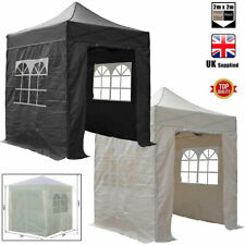 More details for 2m x 2m pop up gazebo party tent marquee with sides inc windows and storage bag