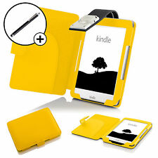 Forefront Cases® Yellow Case Cover with Reading Light Amazon Kindle 2016 Stylus
