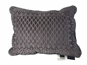 J Queen Bohemia Boudoir Decorative Throw Pillow Silver J. New York 1438 Graphite