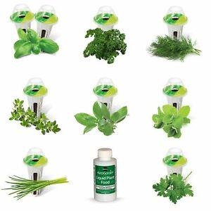 Gourmet Herb Seed Pot Kit 9 Pods Germination Indoor Gardening Miracle Grow New
